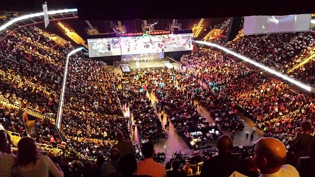 stadium at the 10X growth conference where Russell Brunson was speaking